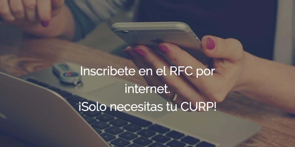 Inscripción al RFC con CURP